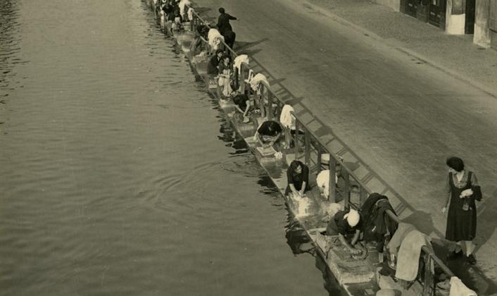 Milano, il Naviglio 1938
