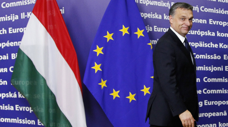 Hungary's Prime Minister Viktor Orban arrives at the European Commission headquarters in Brussels