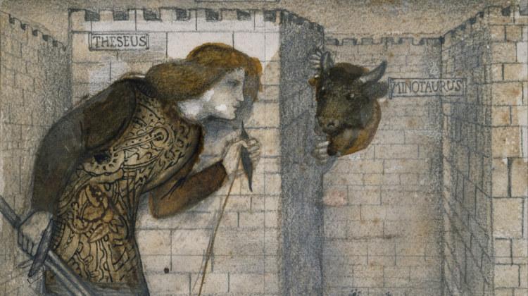 "Edward Burne-Jones ""Teseo e il Minotauro nel labirinto"" 1861 Birmingham Museum and Art Gallery"