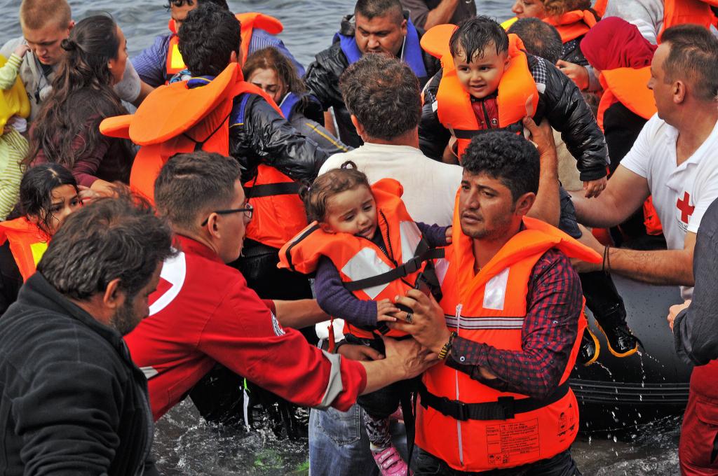 Lesbos / Grecia 2016 - Momenti concitati del salvataggio di migranti siriani provenienti dalla Turchia